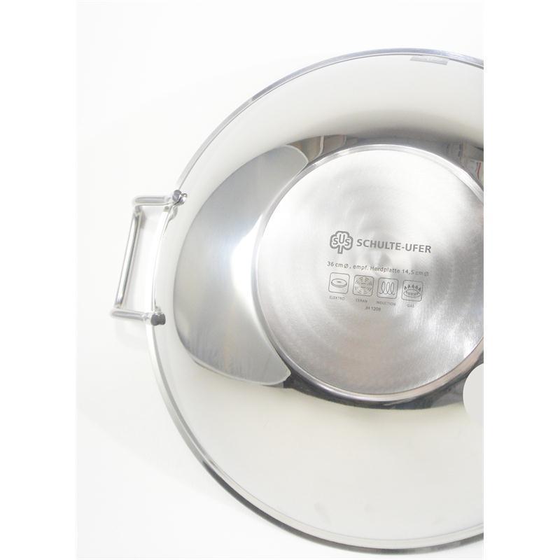 schulte ufer wok 3 tlg bo lang i 36 cm glasdeckel induktion edelstahl 5 l bolang 4007257581081. Black Bedroom Furniture Sets. Home Design Ideas