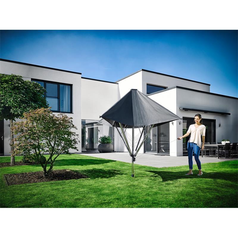 leifheit w schespinne linoprotect 400 mit dach. Black Bedroom Furniture Sets. Home Design Ideas