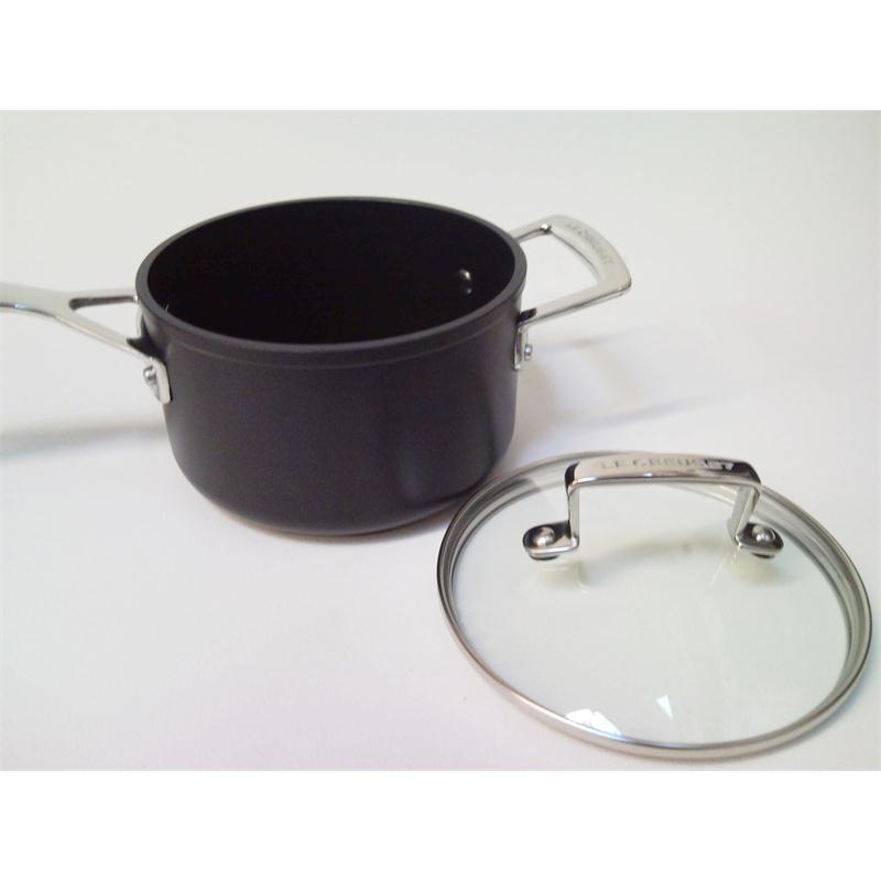 Le Creuset Alu Profitopf-Set 3 t. m.Glasdeckel versiegelt Aluminium