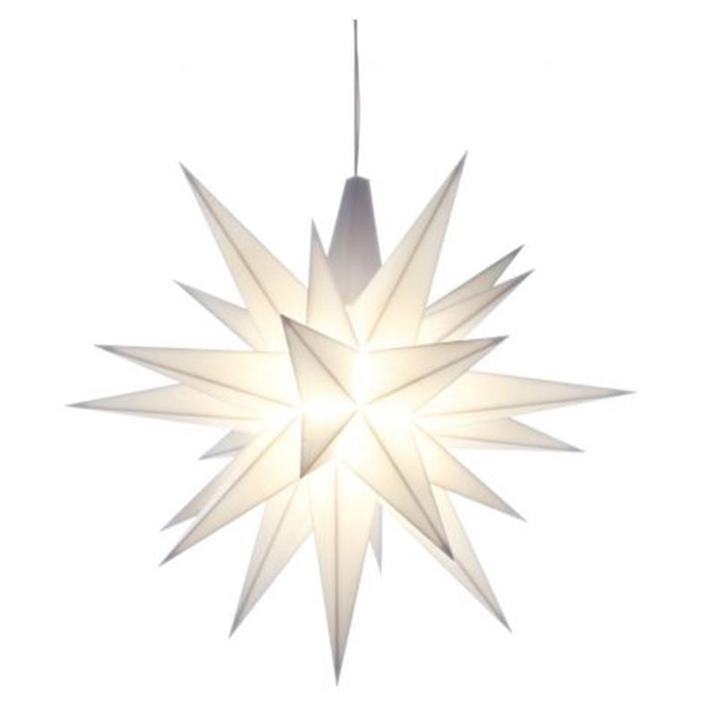 Herrnhuter A1E Stern Kunststoff 13 cm weiß mit LED
