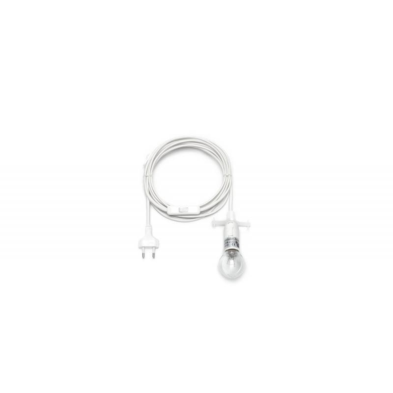 Herrnhuter Innenstern i6 Kabel 4 m E14 weiß für Papierstern