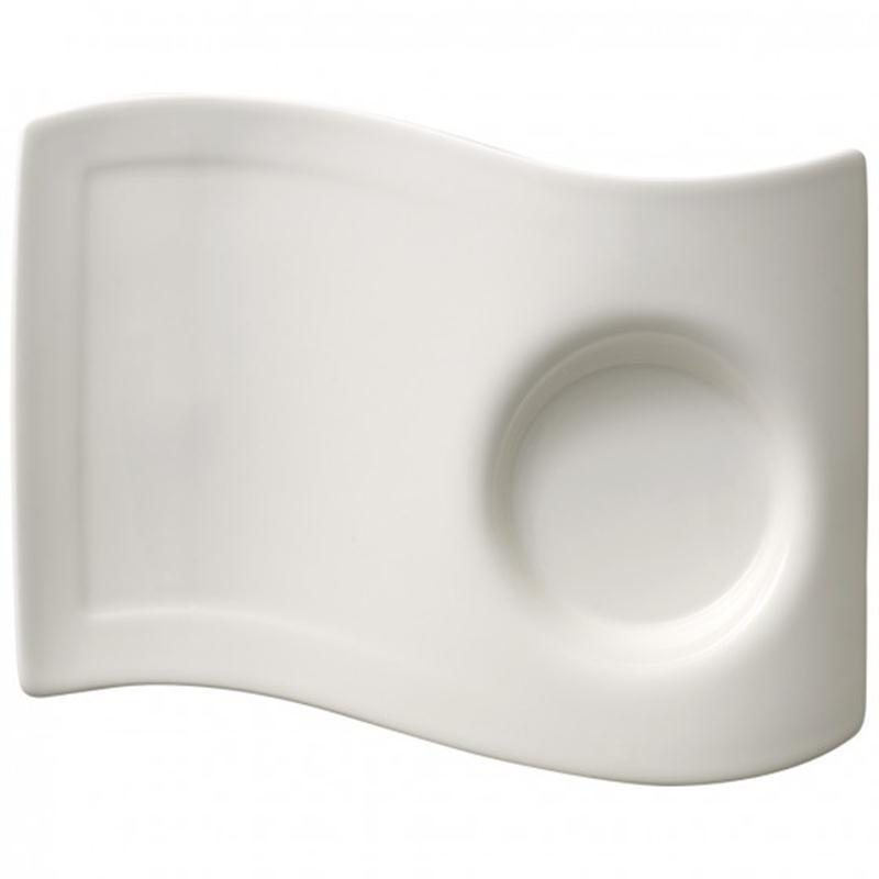 v b new wave caffee partyplatte mittel 20x14 cm untertasse f henkelbecher 0 25. Black Bedroom Furniture Sets. Home Design Ideas