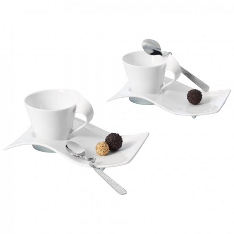 V b new wave caffe cappuccino set 6tlg for Villeroy boch wave