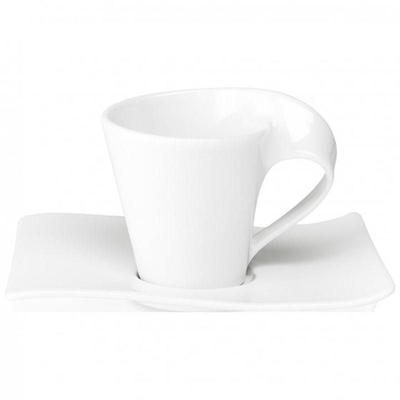 V&B New Wave Kaffeetasse 2 tlg. Obertasse mit Untertasse 0,2 ltr.Villeroy&Boch