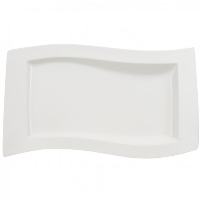 v b new wave servierplatte 49x30cm. Black Bedroom Furniture Sets. Home Design Ideas