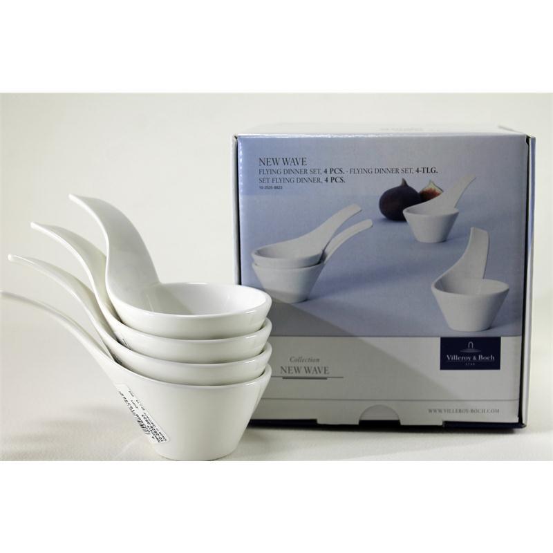 v b new wave flying dinner set 4 dipsch lchen mit griff dip dipschale. Black Bedroom Furniture Sets. Home Design Ideas