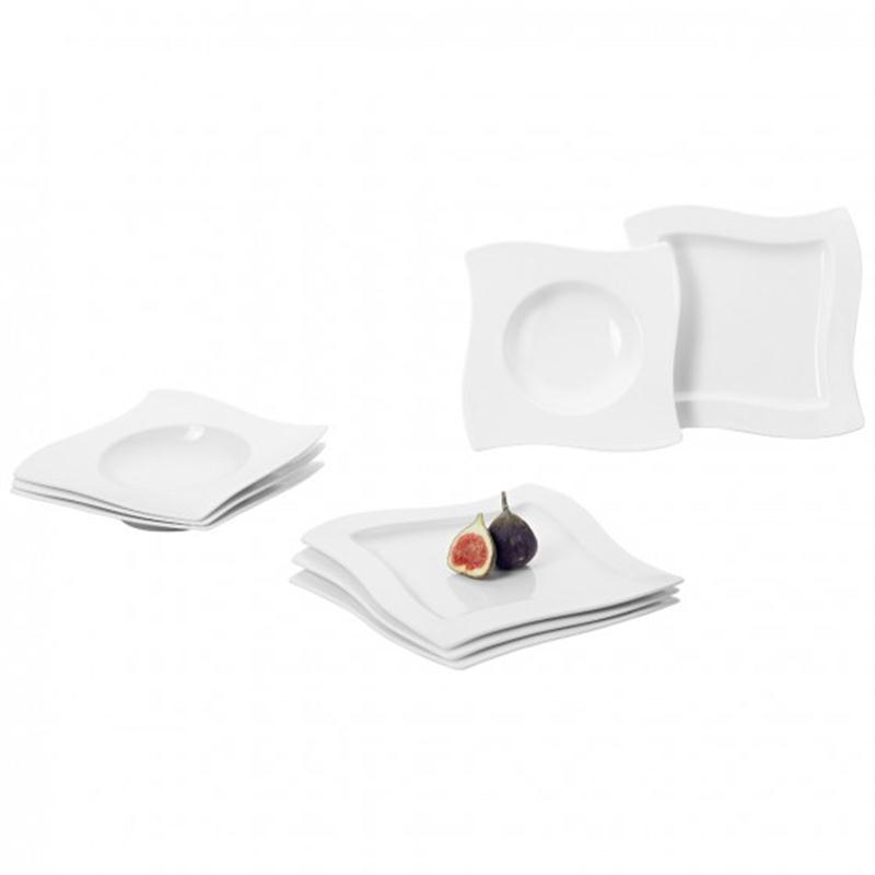 v b new wave dinner set 8tlg 4spei 4sute. Black Bedroom Furniture Sets. Home Design Ideas