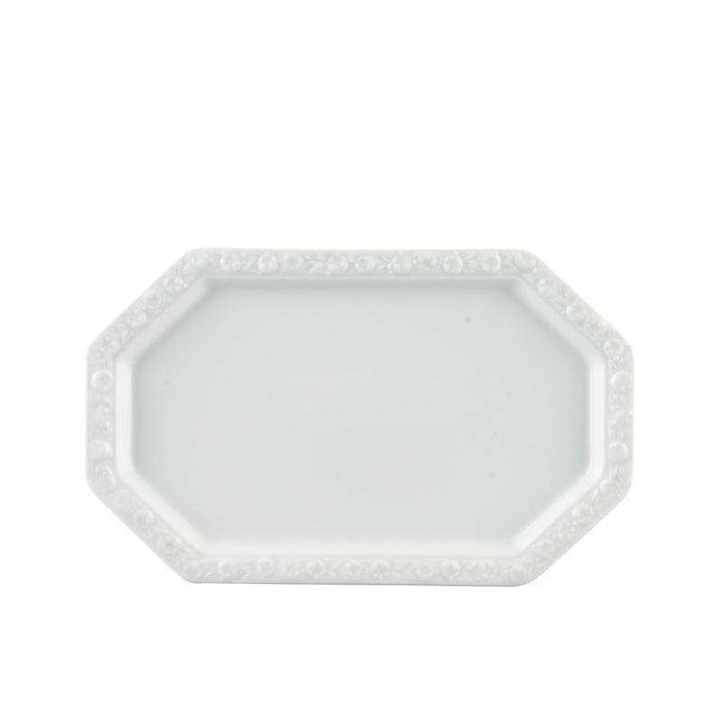 Rosenthal Maria Weiss Milch Zucker Tablett Tableau 27 x 16 cm