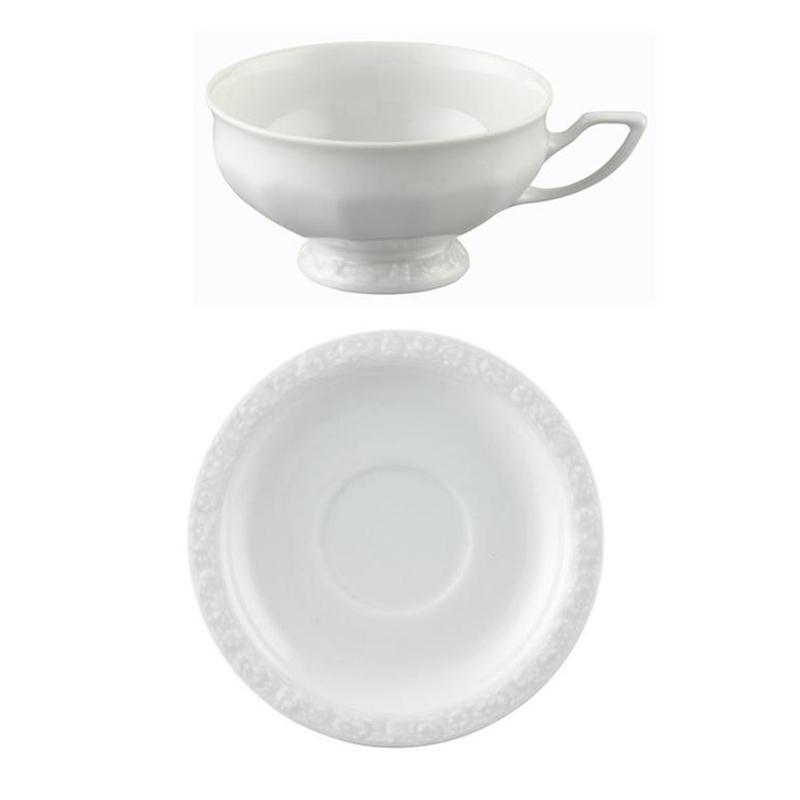 Rosenthal Maria Weiss Teetasse 2 tlg. Tasse flach 0,2 ltr.