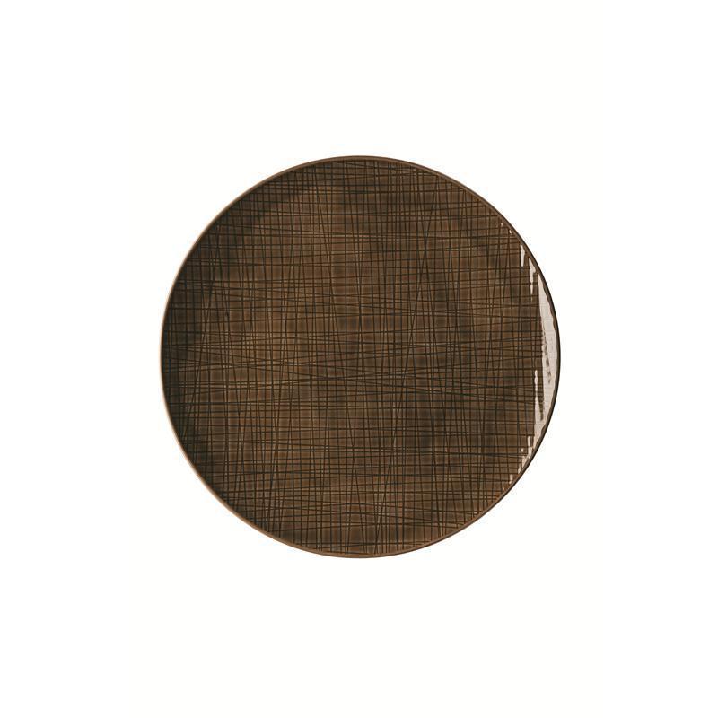 Rosenthal Mesh Walnut Teller flach 30 cm braun Platzteller Pizzateller