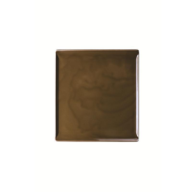 Rosenthal Mesh Walnut Platte flach 26x24cm braun