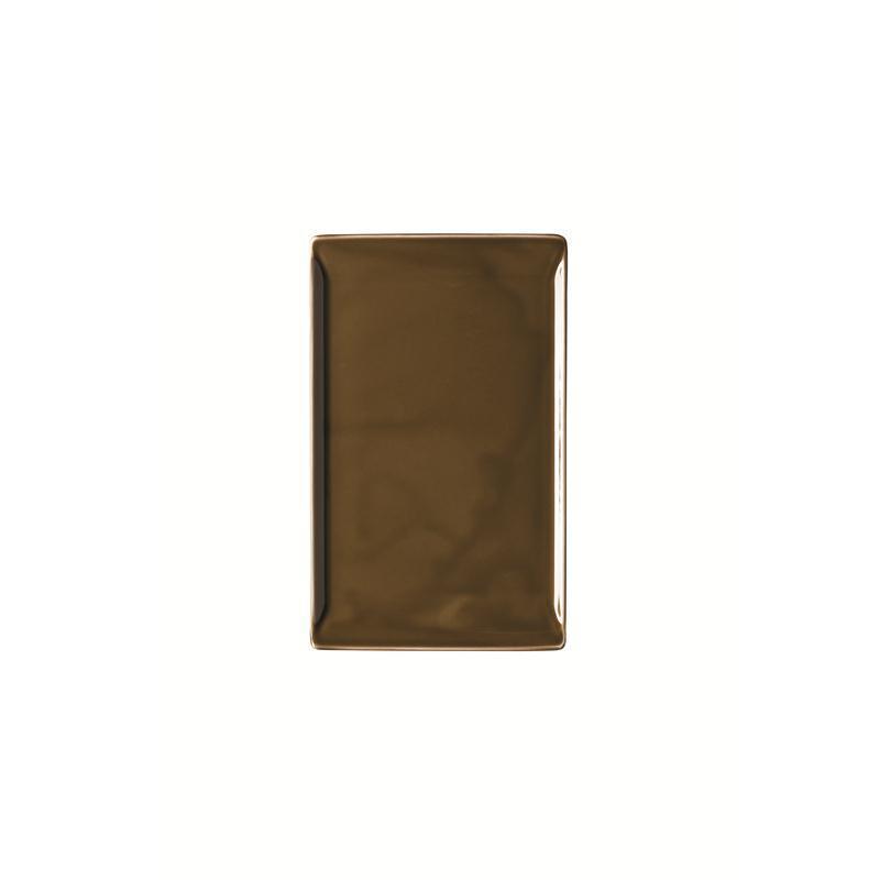 Rosenthal Mesh Walnut Platte flach 24x15cm  braun