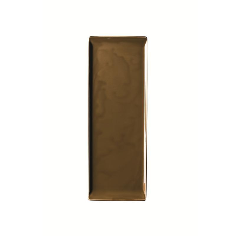 Rosenthal Mesh Walnut Platte flach 41x15cm braun