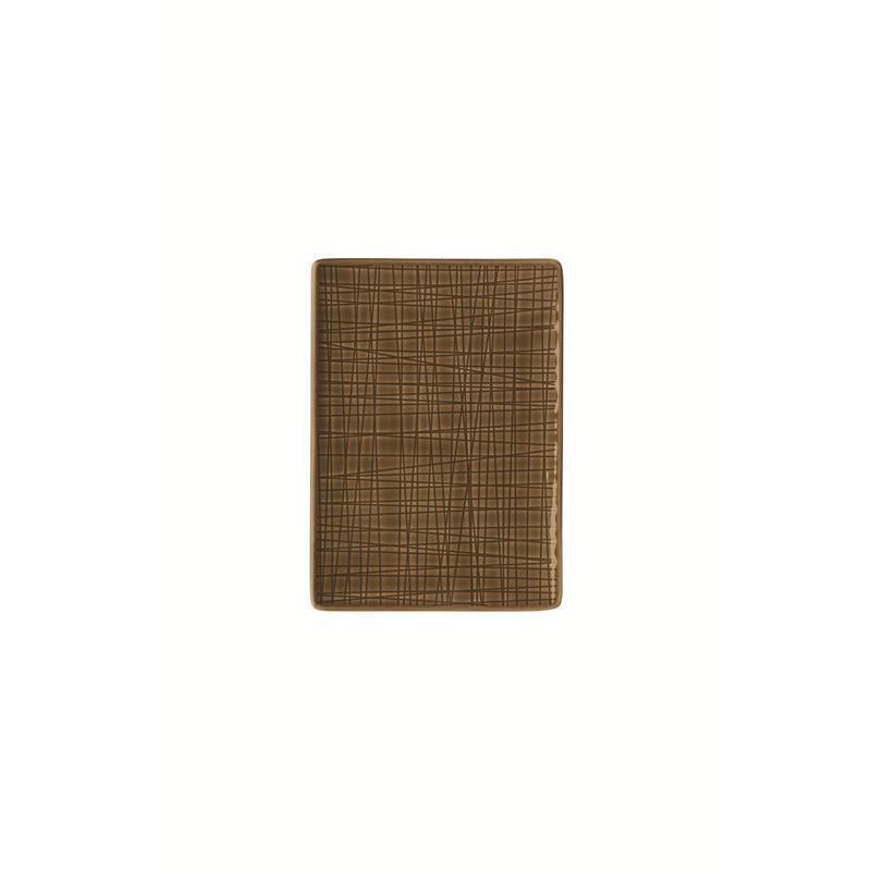 Rosenthal Mesh Walnut Platte flach 18x13cm braun