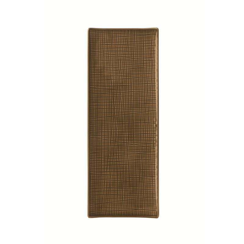 Rosenthal Mesh Walnut Platte flach 34x13cm braun