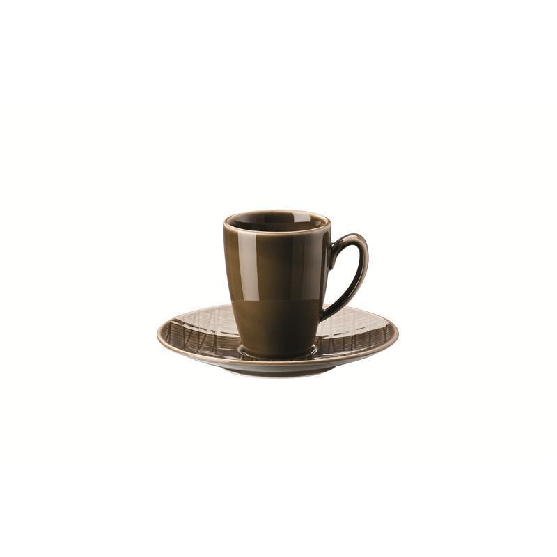 Rosenthal Mesh Walnut Espressotasse 2-tlg. Mokkatasse 0,08 ltr. braun