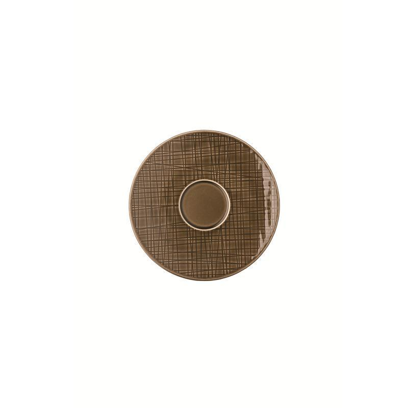 Rosenthal Mesh Walnut Espresso-Untertasse Mokkauntere 12 cm braun