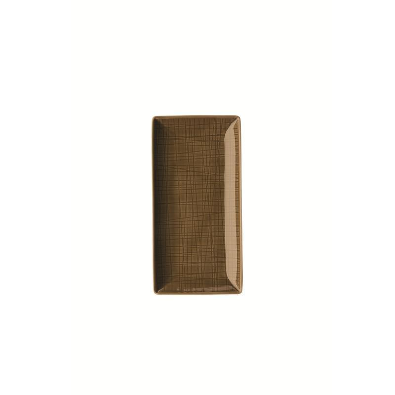 Rosenthal Mesh Walnut Schale 20x10 cm braun