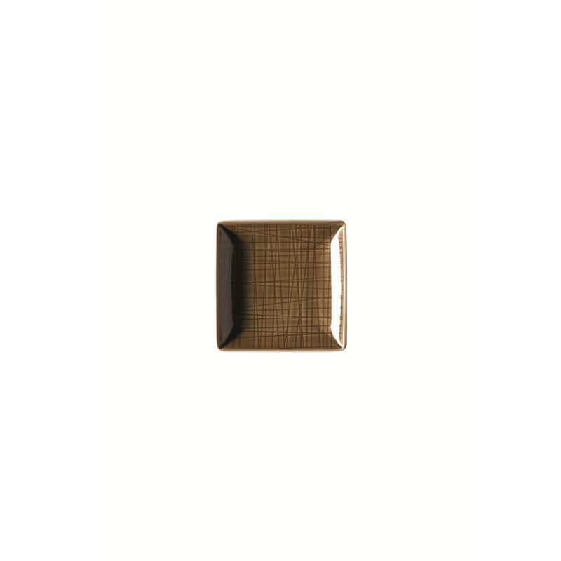Rosenthal Mesh Walnut Schale quadr. 10 cm braun