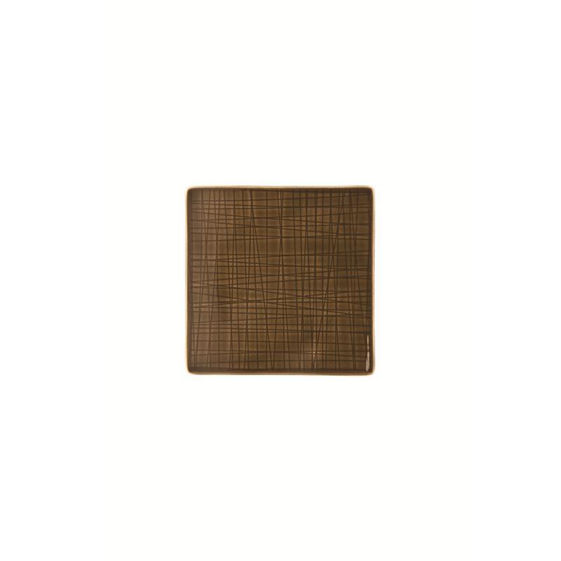 Rosenthal Mesh Walnut Teller quadr. 14 fl. braun