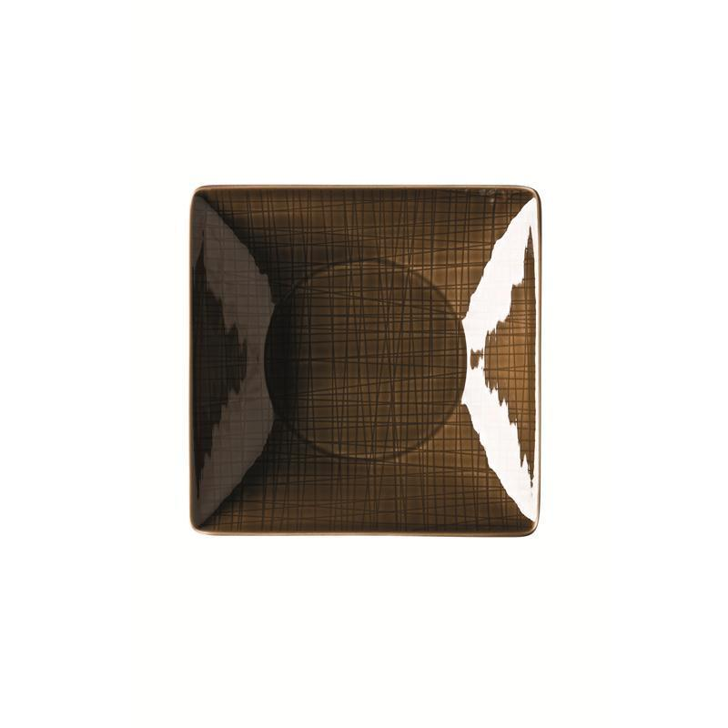 Rosenthal Mesh Walnut Teller quadr. 20 tf. braun