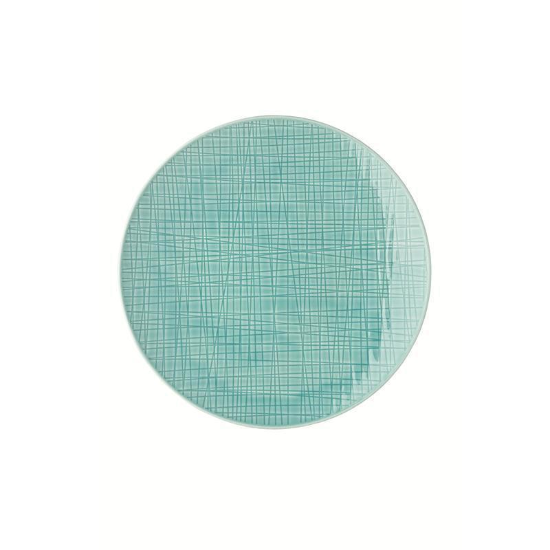 Rosenthal Mesh Aqua Teller flach 24 cm blau kleiner  Speiseteller Essteller
