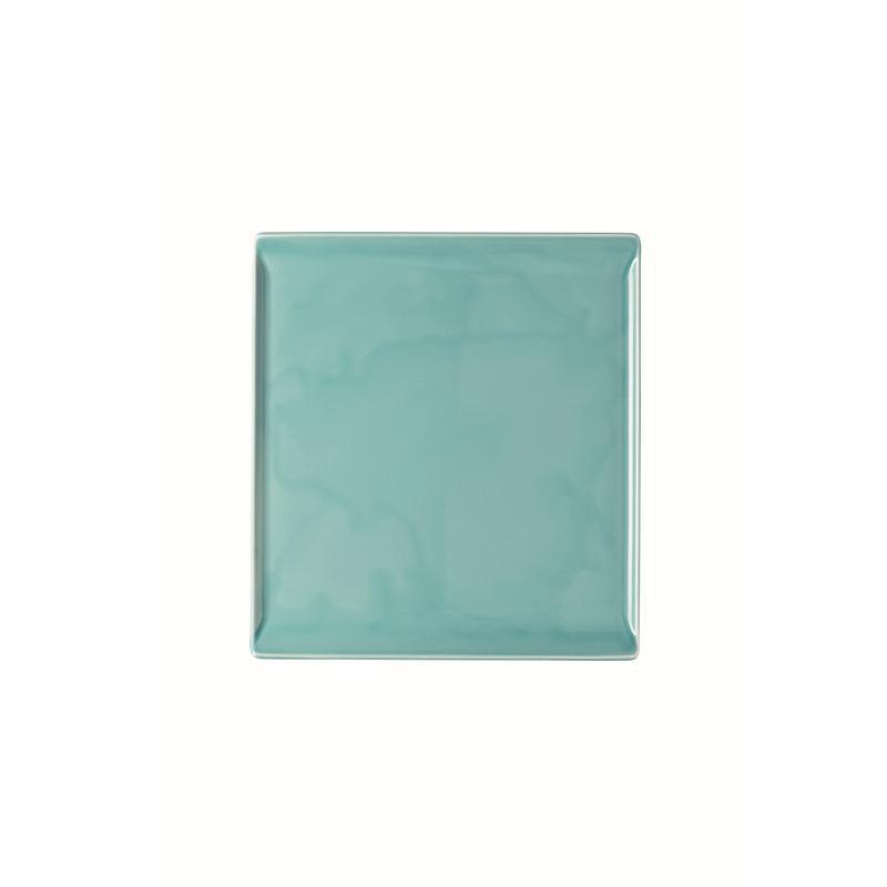 Rosenthal Mesh Aqua Platte flach 26x24cm blau