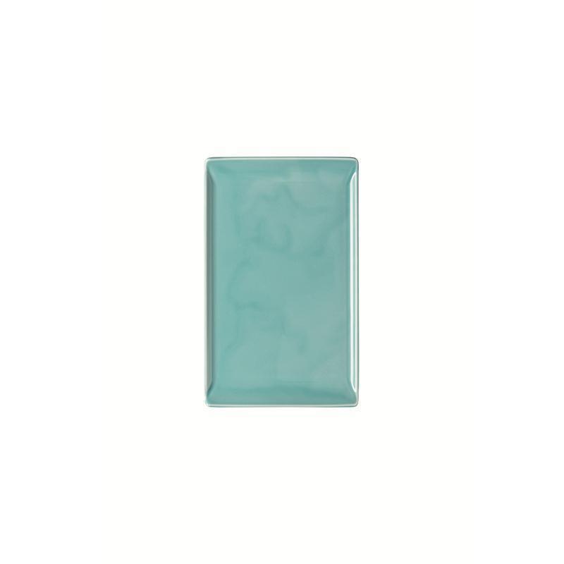 Rosenthal Mesh Aqua Platte flach 24x15cm blau