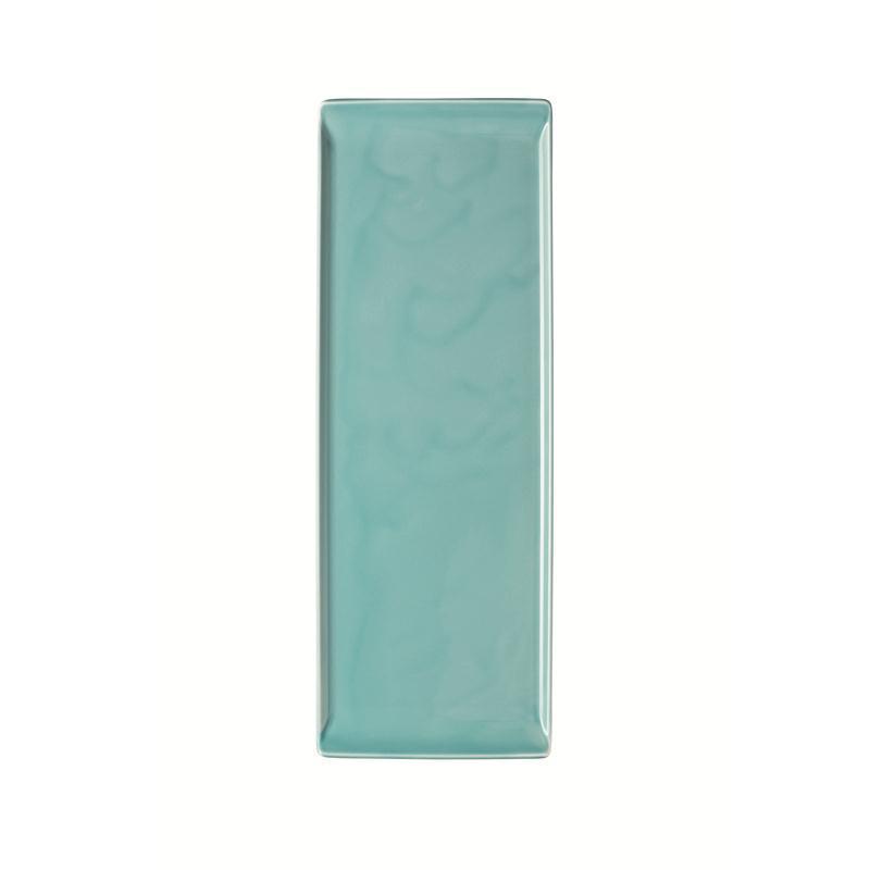 Rosenthal Mesh Aqua Platte flach 41x15cm blau