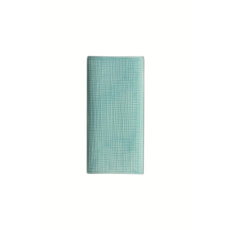Rosenthal Mesh Aqua Platte flach 26x13cm blau