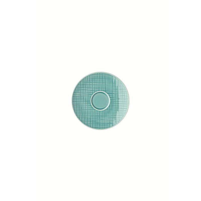 Rosenthal Mesh Aqua Espresso-Untertasse Mokkauntere 12 cm blau