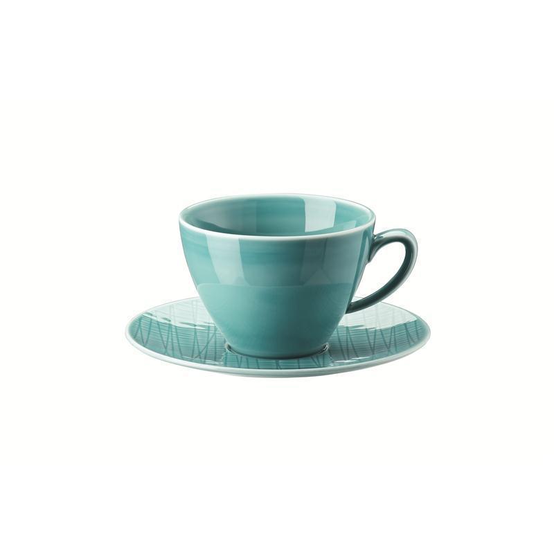 Rosenthal Mesh Aqua Kombitasse 2-tlg. Kaffeetasse Tasse blau