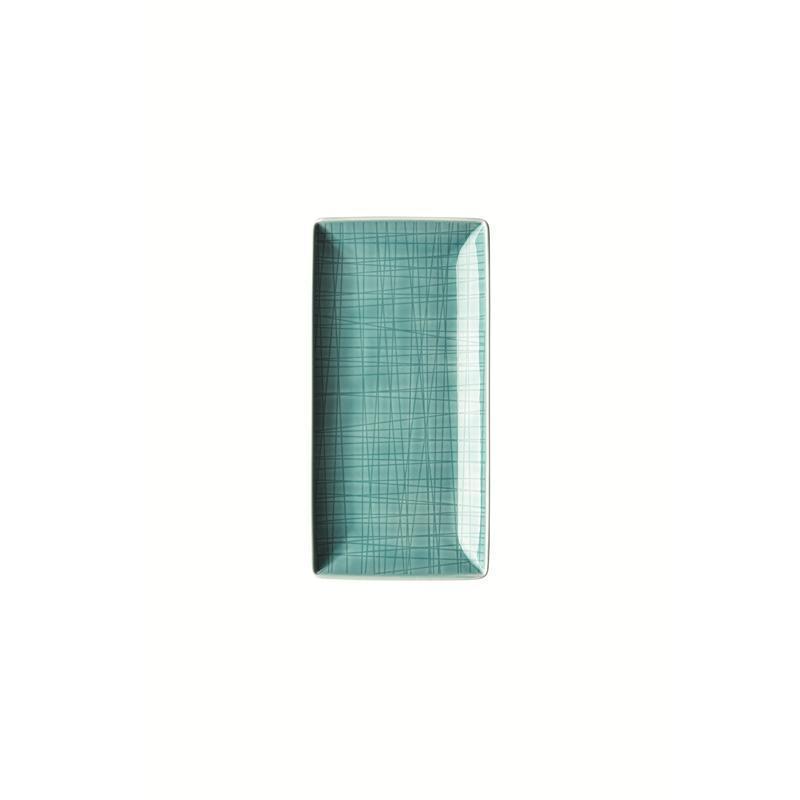 Rosenthal Mesh Aqua Schale 20x10 cm blau