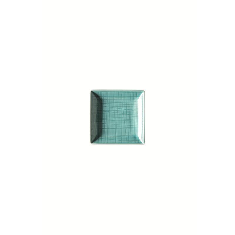 Rosenthal Mesh Aqua Schale quadr. 10 cm blau