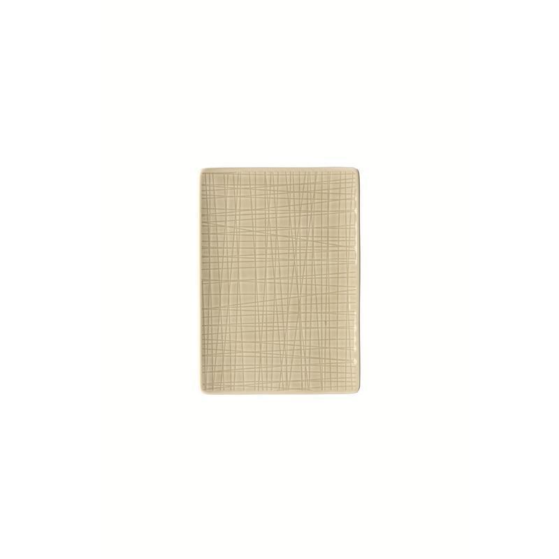 Rosenthal Mesh Cream Platte flach 18x13cm beige