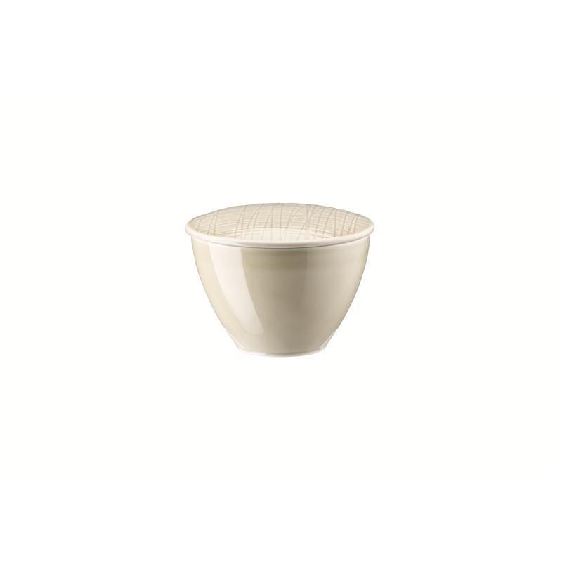 Rosenthal Mesh Cream Zuckerdose 0,22 ltr. beige 2 tlg. Dose m.Deckel