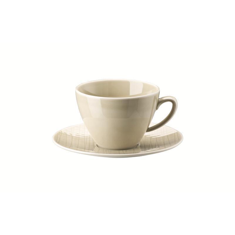 Rosenthal Mesh Cream Kombitasse 2-tlg. Kaffeetasse Tasse beige