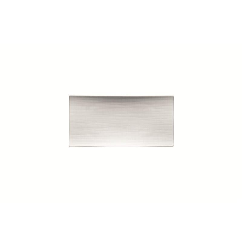 Rosenthal Mesh Weiss Platte flach 26x13cm