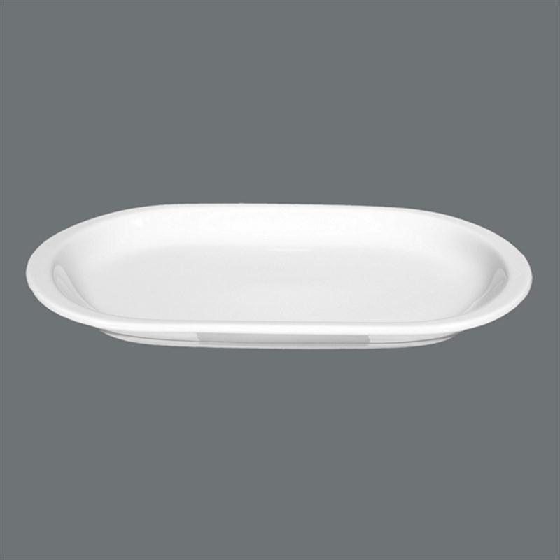Seltmann Compact weiß Platte oval 29 x 17 cm Fleischplatte Gemüseplatte