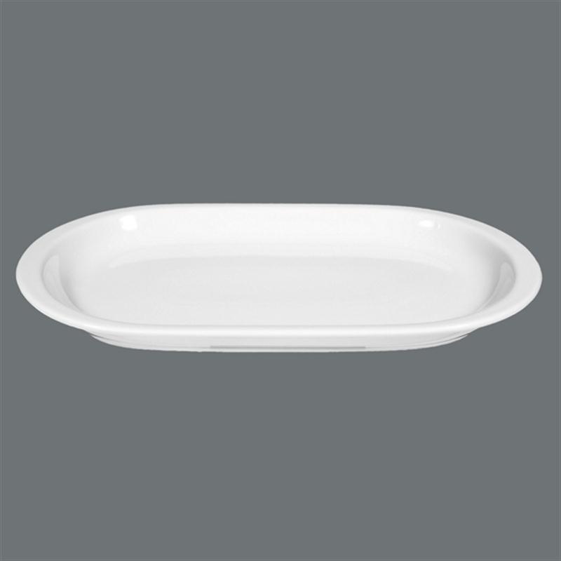 Seltmann Compact weiß Platte oval 33 x 19,5 cm Fleischplatte Gemüseplatte