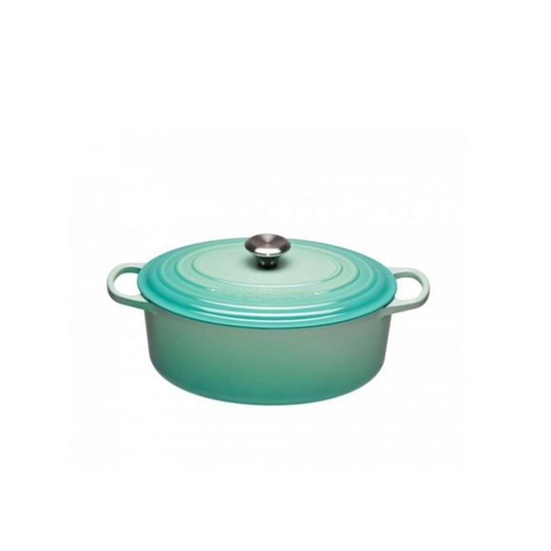 le creuset signature br ter oval 29 cm cool mint. Black Bedroom Furniture Sets. Home Design Ideas