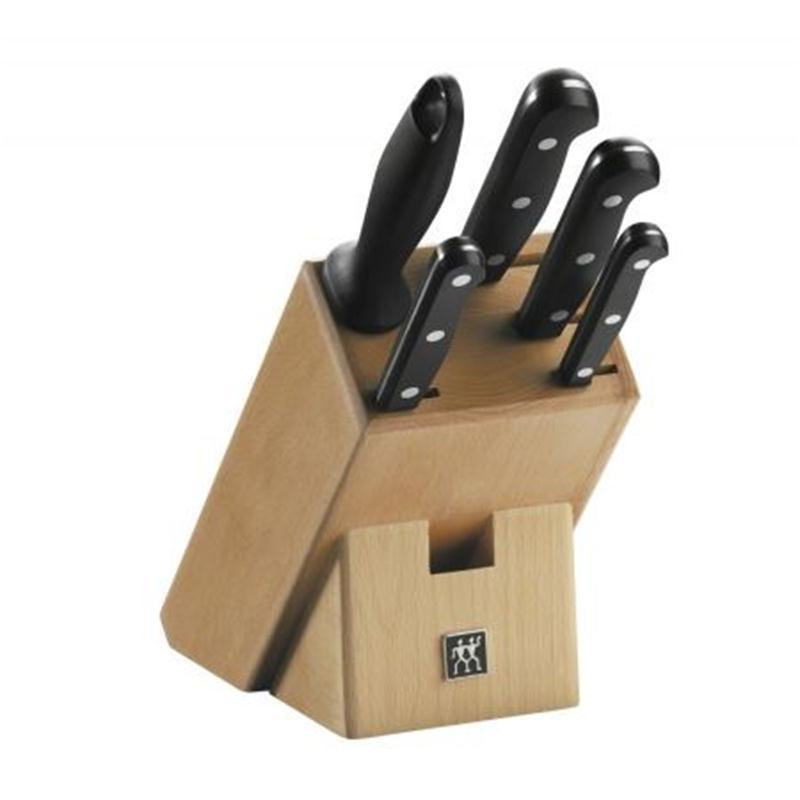 Zwilling Twin Gourmet Messerblock 6 tlg. 31697 mit Holzblock Buche