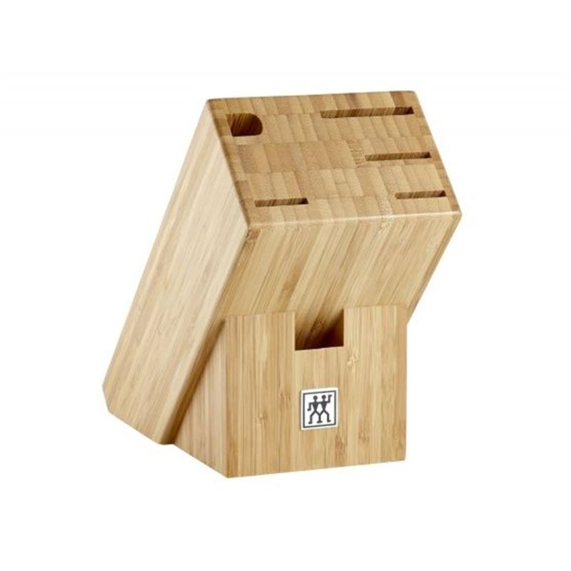 Zwilling Vier Sterne Messerblock 7 tlg.Bambus 35068-003 Kochmesser Fleischmesser