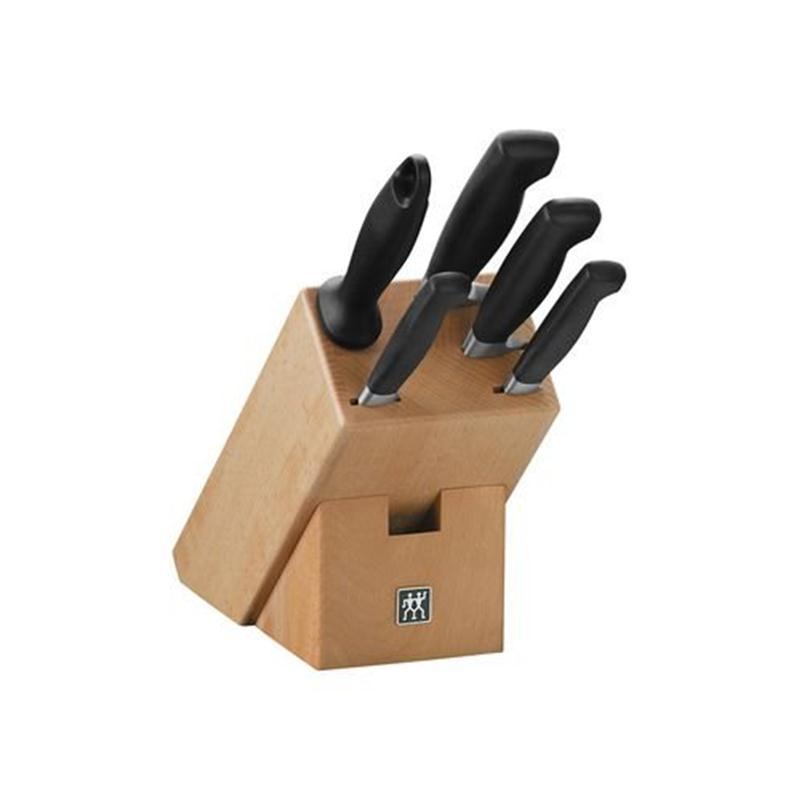 zwilling vier sterne messerblock 6 tlg 35149 000. Black Bedroom Furniture Sets. Home Design Ideas