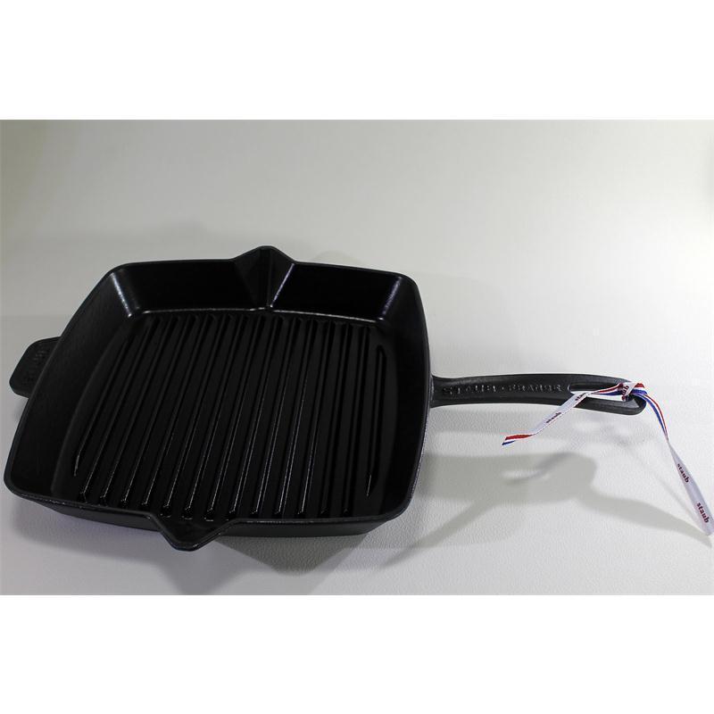 staub grillpfanne 30 x 30 cm quadratisch gusseisen. Black Bedroom Furniture Sets. Home Design Ideas