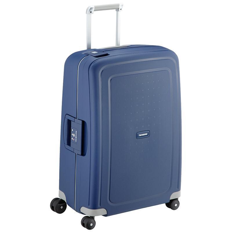samsonite s 39 cure trolley 69 blau 4 rollen spinner koffer. Black Bedroom Furniture Sets. Home Design Ideas