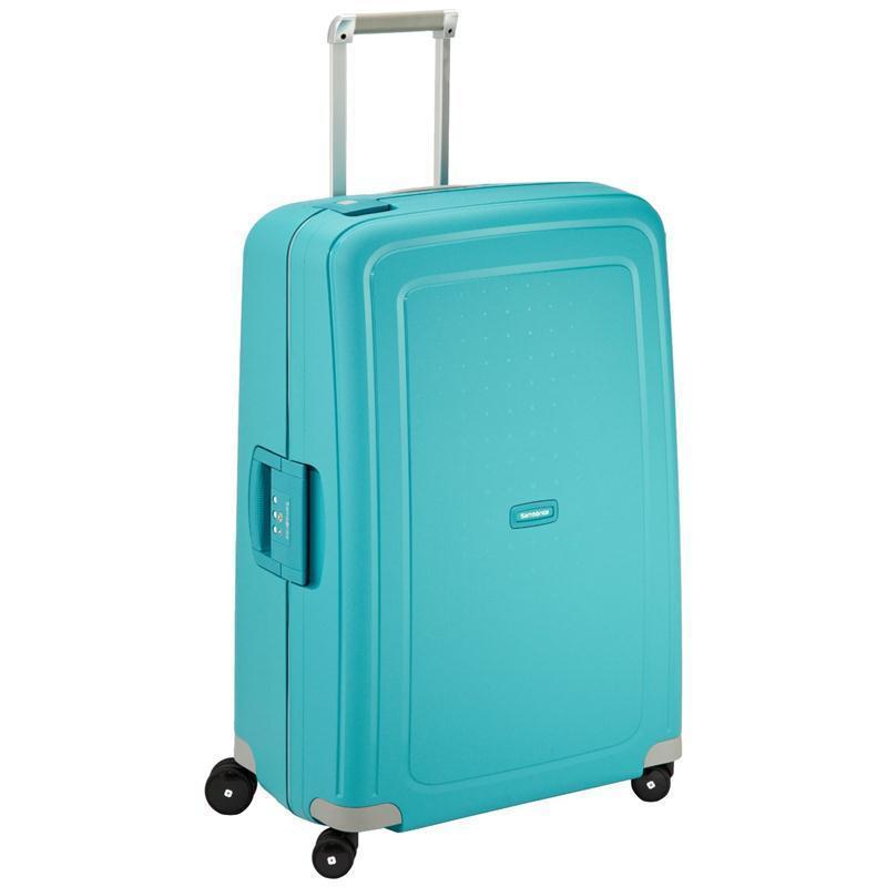 samsonite s 39 cure trolley 75 aqua blue 4 rollen spinner. Black Bedroom Furniture Sets. Home Design Ideas