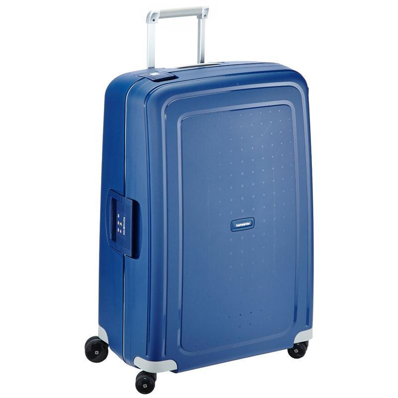 samsonite s 39 cure trolley 75 blau 4 rollen spinner koffer hartschale dark blue. Black Bedroom Furniture Sets. Home Design Ideas