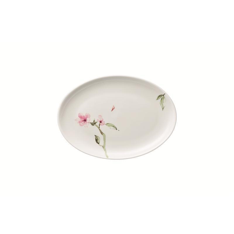 Rosenthal Jade Magnolie Platte oval 30 cm Servierplatte 29 x 21
