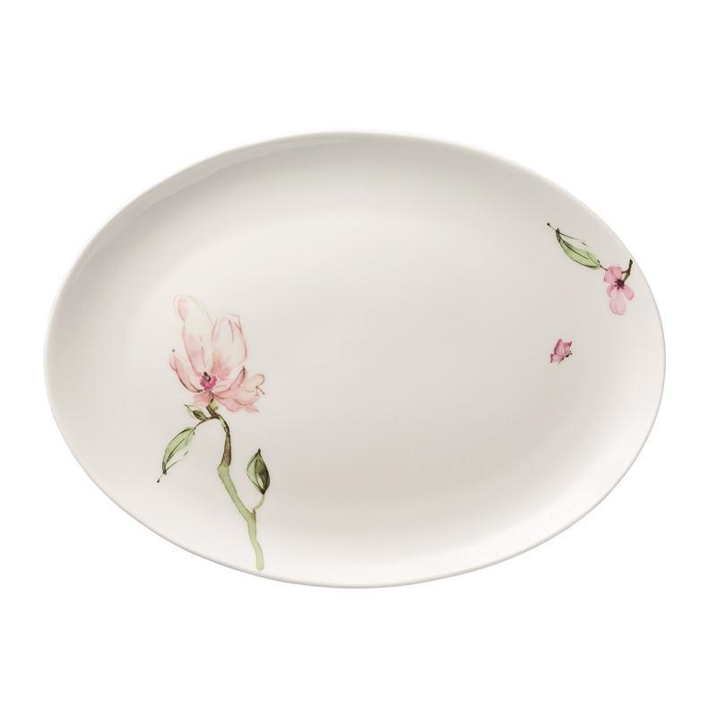 Rosenthal Jade Magnolie Platte oval 35 cm Servierplatte 34 x 25